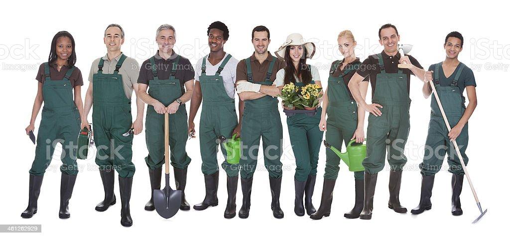 Gruppe von Gardener Arbeitnehmer – Foto