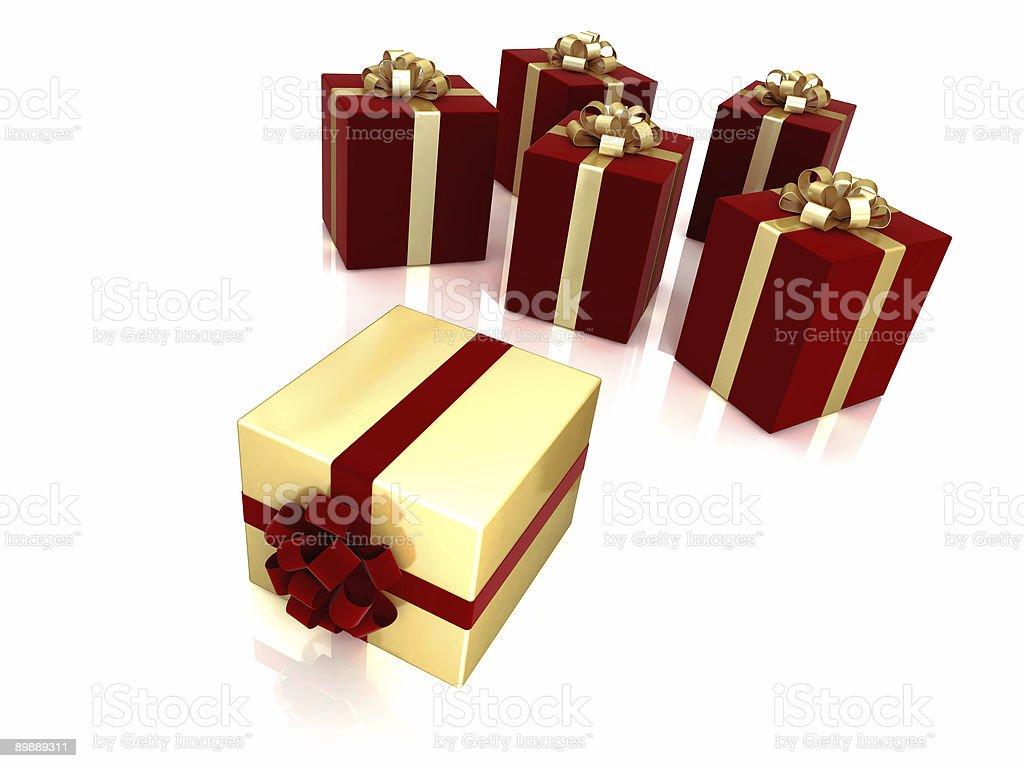 Grupo de caja de regalo Aislado en blanco foto de stock libre de derechos