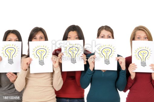 175442264 istock photo Group of Girls Showing Light Bulb Drawing 185100458