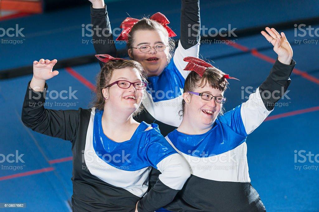 Eine Gruppe Von Mädchen Mit Downsyndrom Auf Sport Team Stock ...
