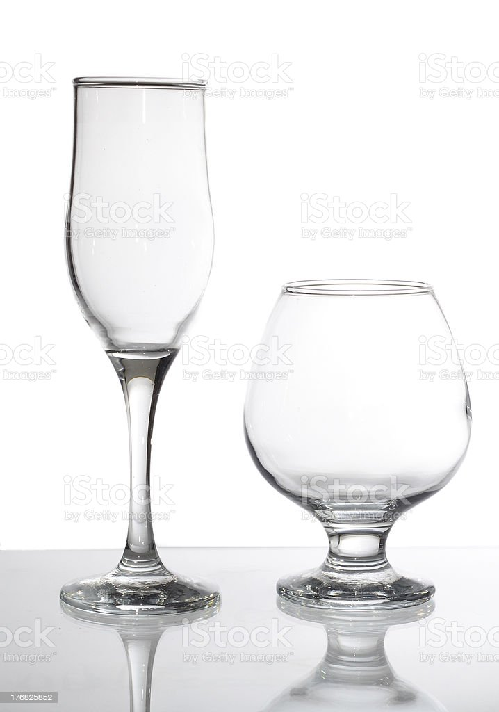 group of glasses isolated on white royalty-free stock photo