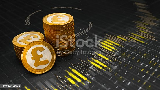 Economy and banking 3D illustration background.