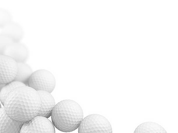 Group of golf balls on white background – Foto