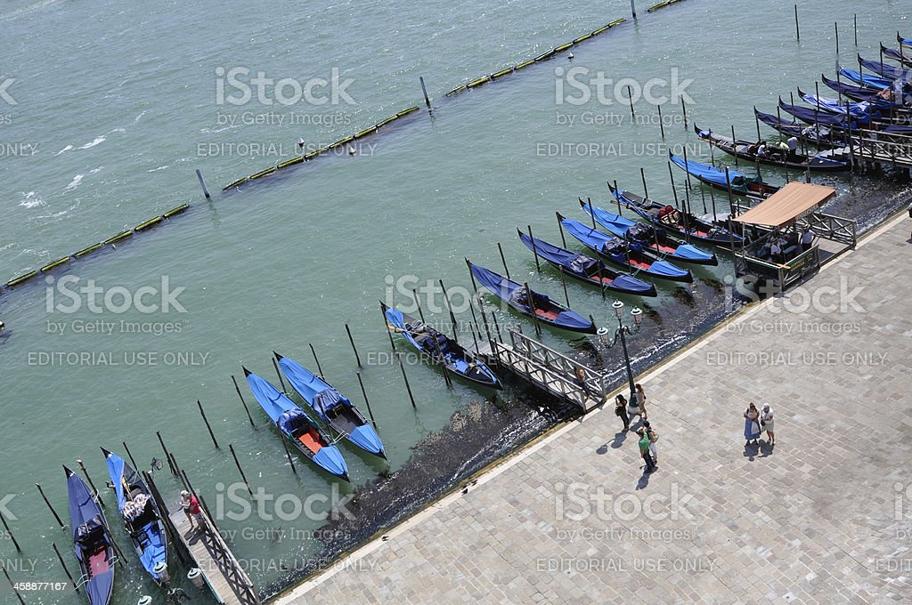 Group of Gondola royalty-free stock photo