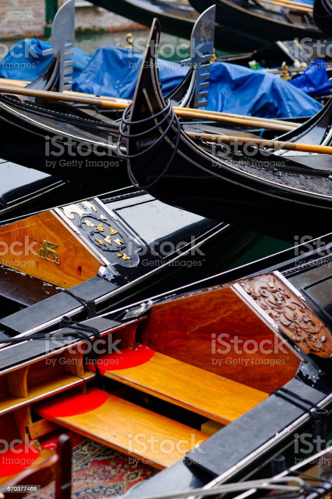 Group of gondolas royalty-free stock photo