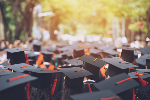 istock Group of Graduates during commencement. Concept education congratulation in University. Graduation Ceremony ,Congratulated the graduates in University during commencement. 1064204598