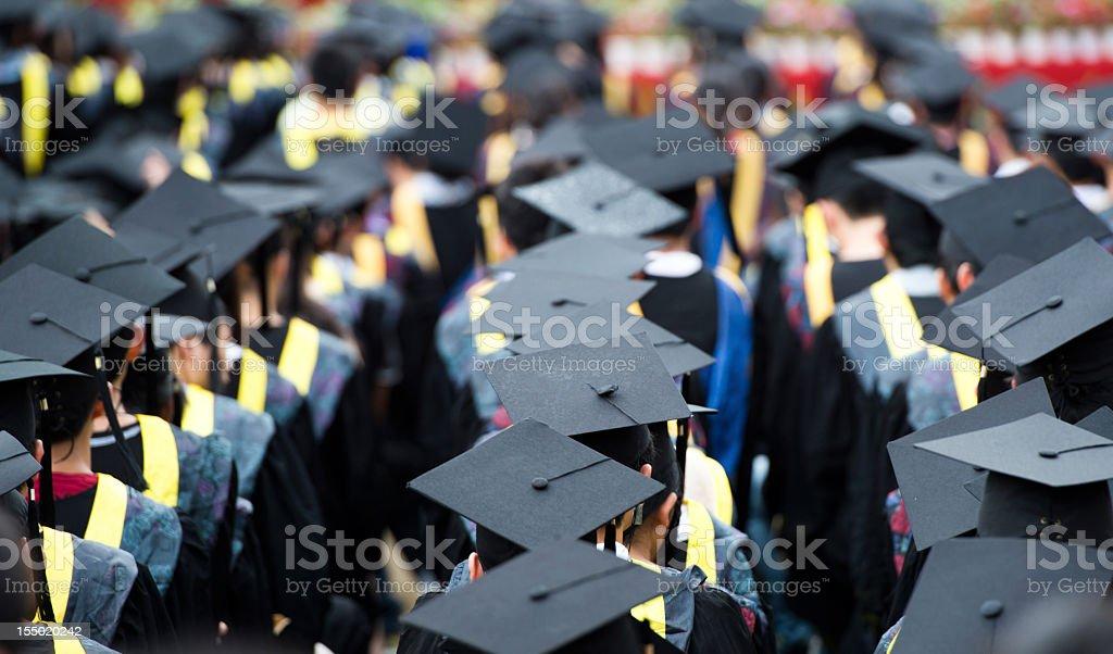 Gruppe von Absolventen – Foto