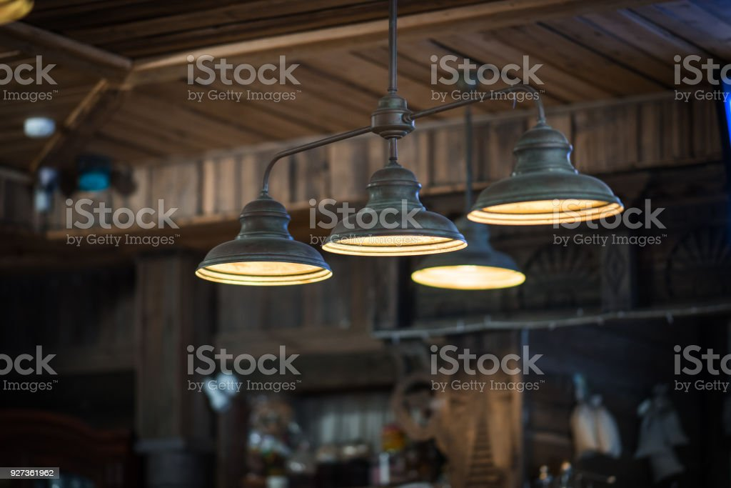 Group of hanging lights with shallow depth of field - Royalty-free Backgrounds Stock Photo