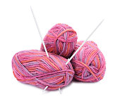 istock Group of hanks of colorful yarns 1222825482