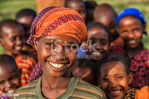 istock Group of happy African children, East Africa 627492508