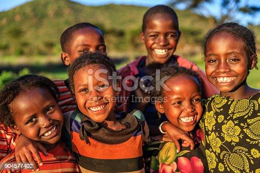 istock Group of happy African children, East Africa 904577402