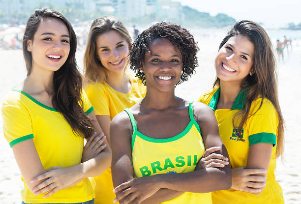 Royalty Free Beach Copacabana Beach Women Rio De Janeiro Pictures, Images And Stock -4316