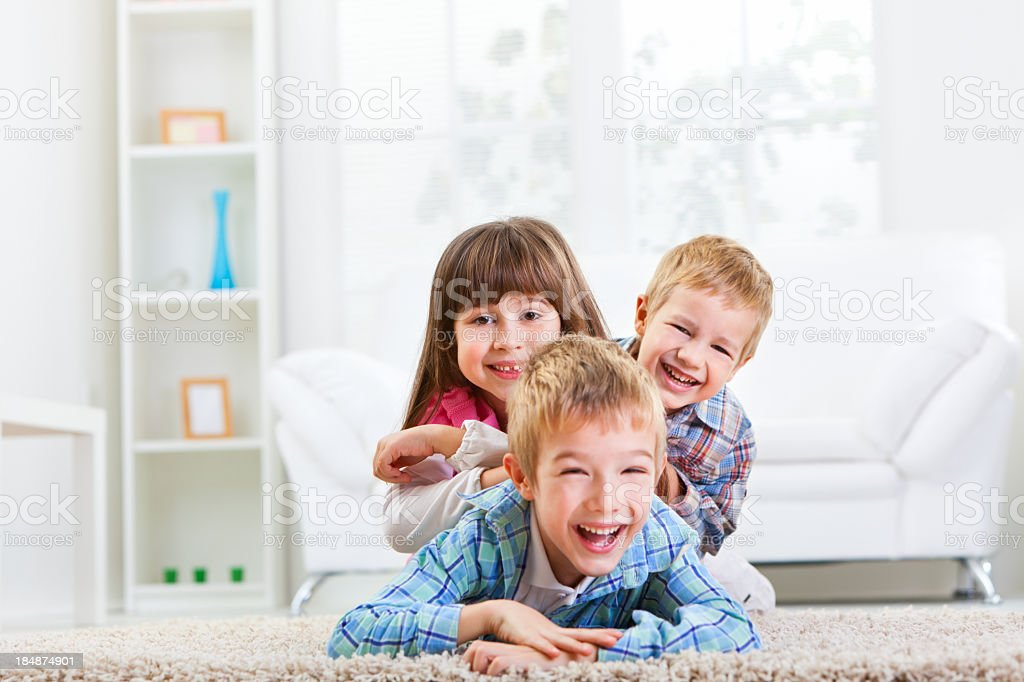 Group of happy children royalty-free stock photo