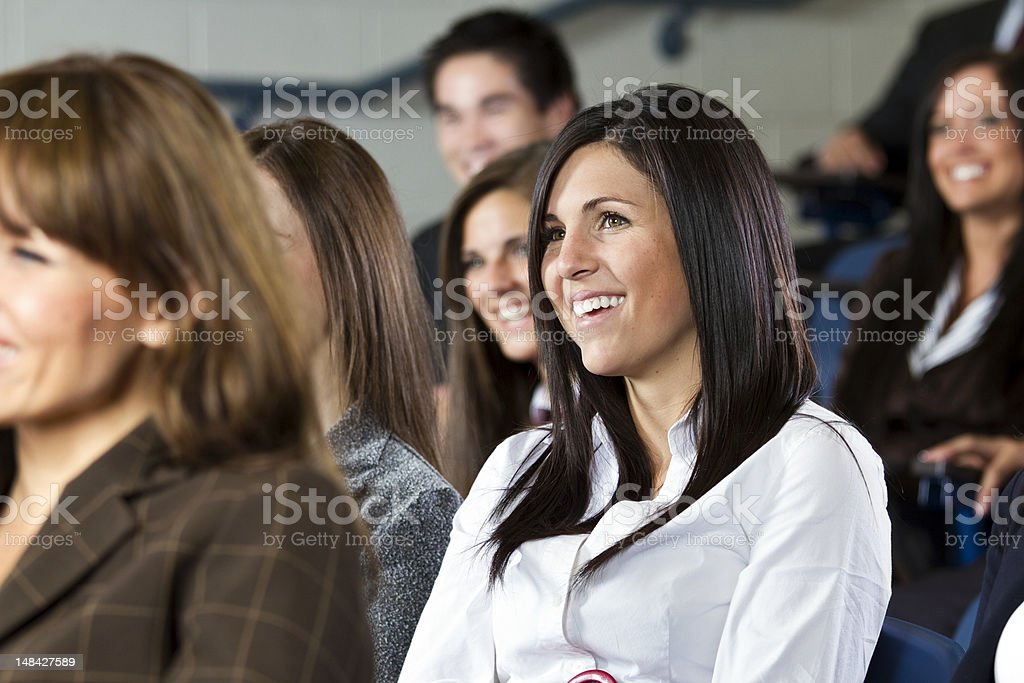 Group of Happy People in an Audience royalty-free stock photo