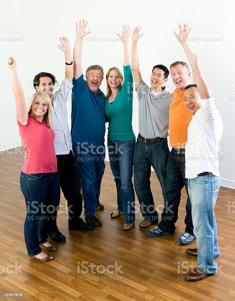 Group of Happy People royalty-free stock photo