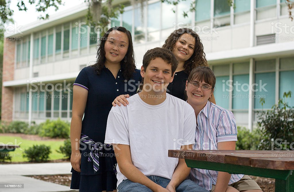 Group of Happy Students royalty-free stock photo