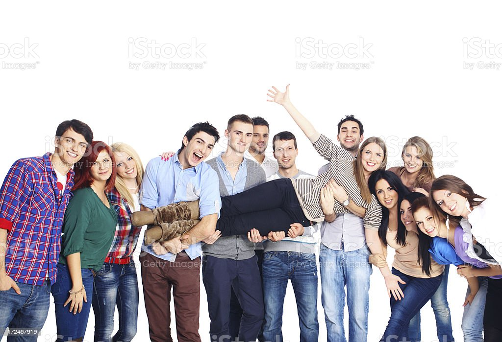 Group of happy young adults. royalty-free stock photo