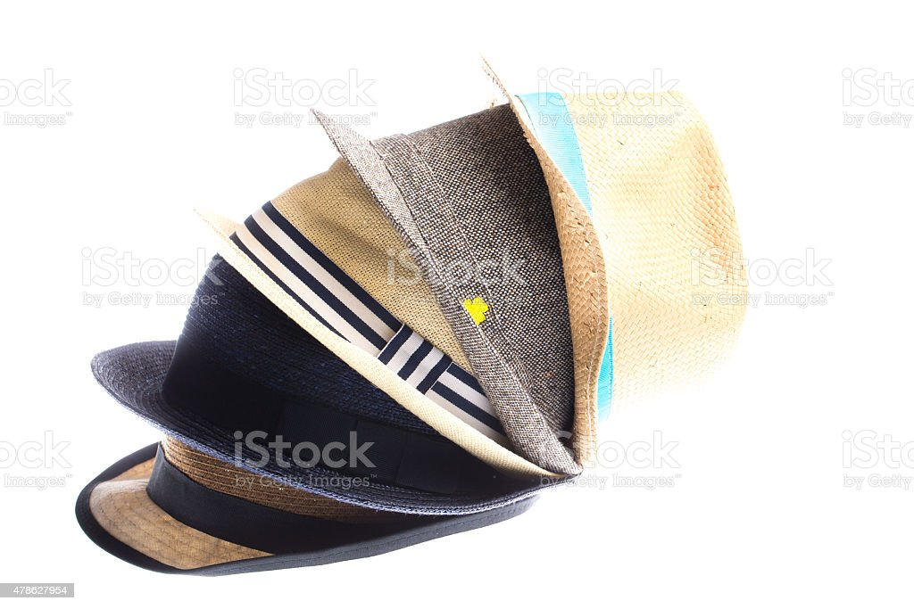 Group of hats stock photo