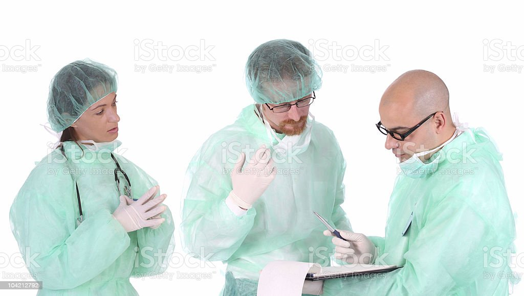 group of healthcare workers royalty-free stock photo