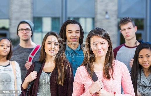 istock Group of high school or college students 535402519