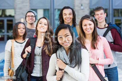 istock Group of high school or college students 535415793