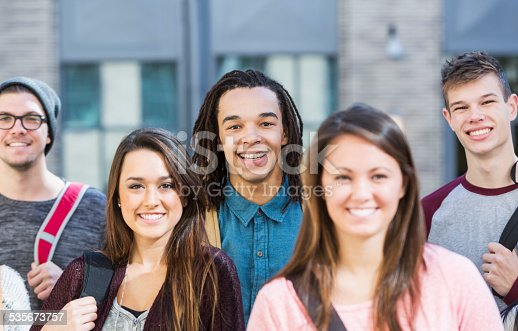 972902010 istock photo Group of high school or college students 535673757