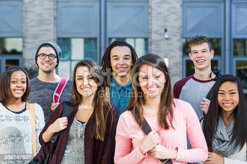 istock Group of high school or college students 536247607