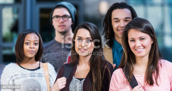 istock Group of high school or college students 537513429