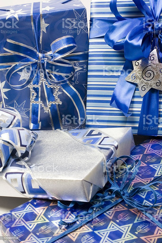 Group of Holiday Gifts royalty-free stock photo