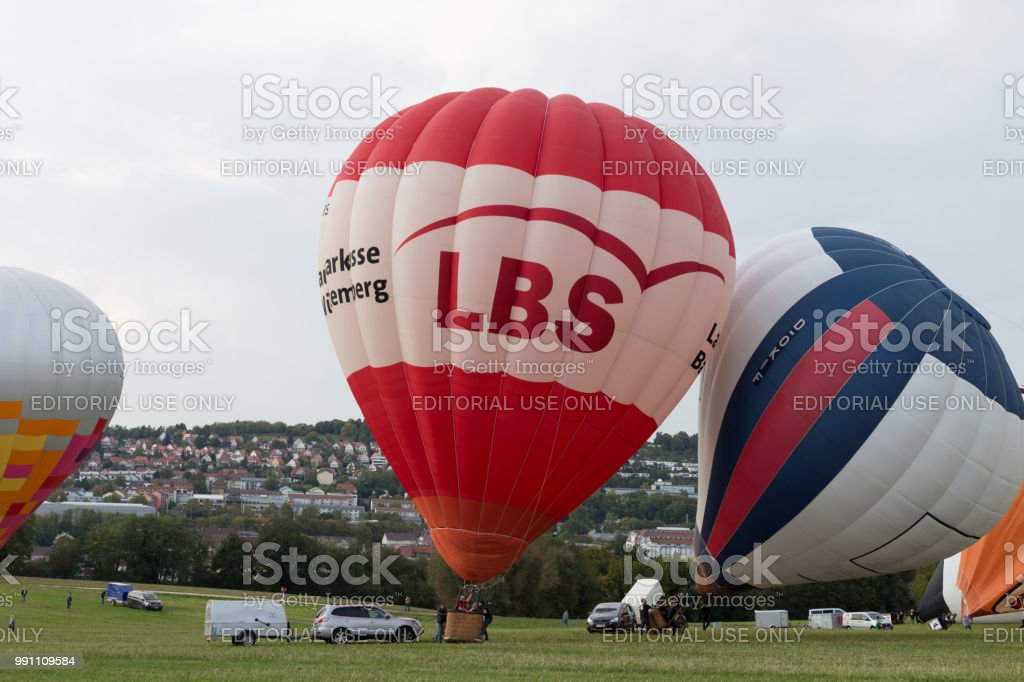 Group Of Hot Air Balloons At The GermanCup In Pforzheim Royalty Free Stock Photo
