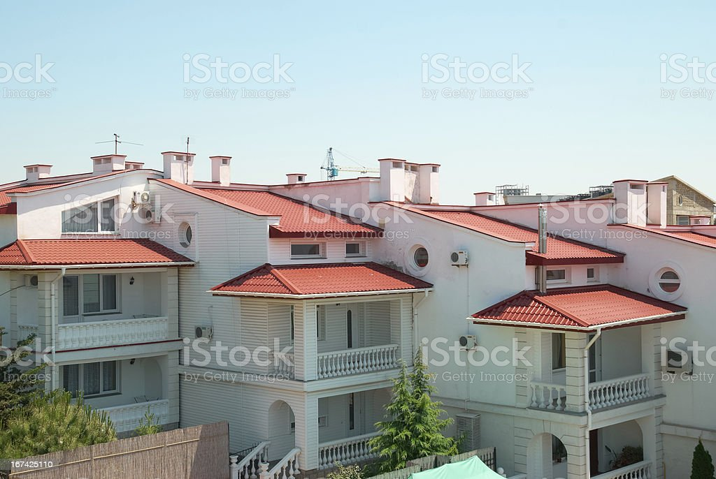 Group of houses royalty-free stock photo