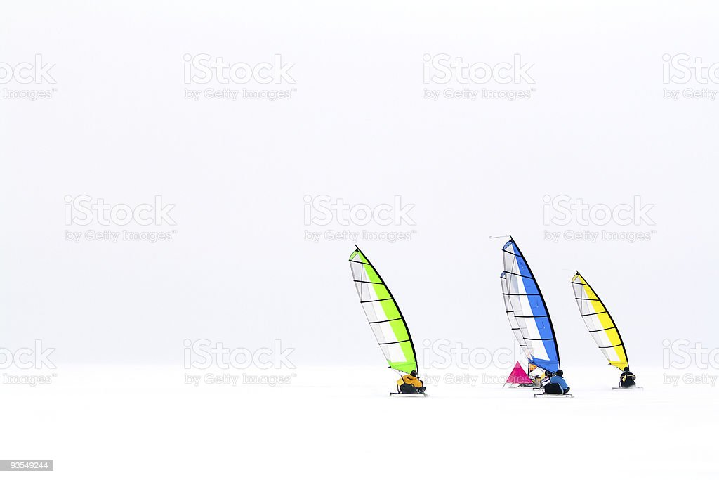 Group of ice-boats royalty-free stock photo