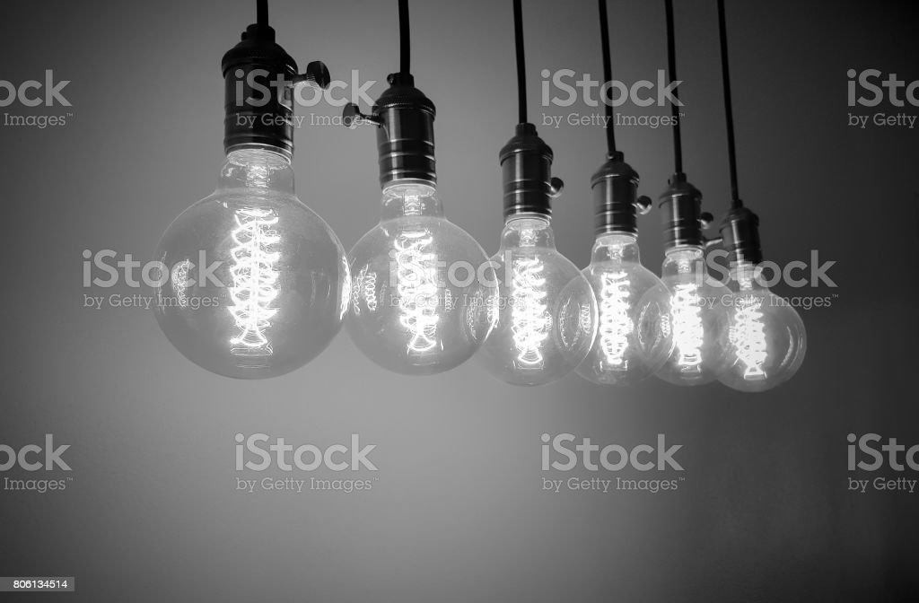 Group of Incandescent bulbs stock photo