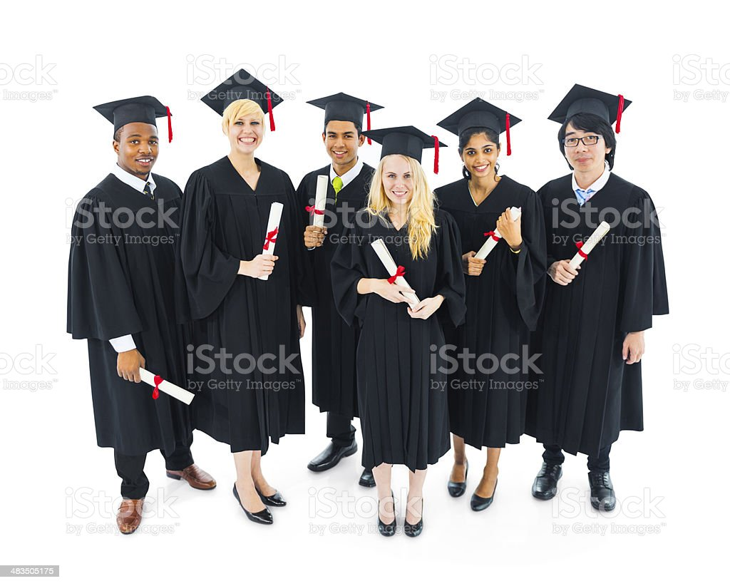Group of International Graduated Students stock photo