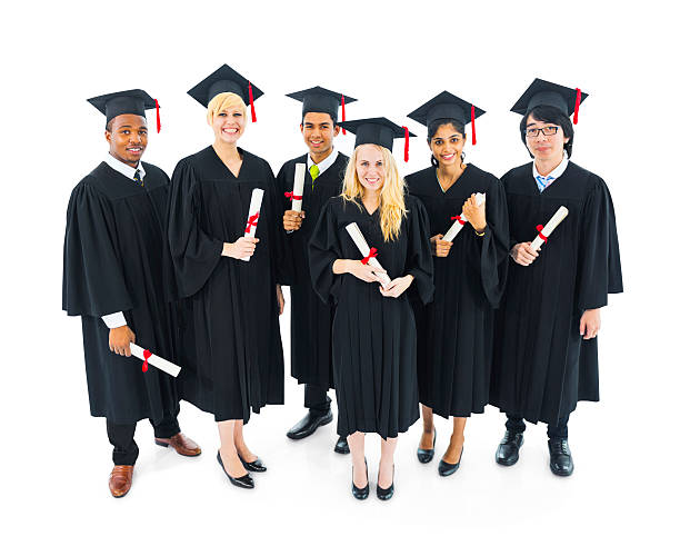 Group of International Graduated Students  alumnus stock pictures, royalty-free photos & images