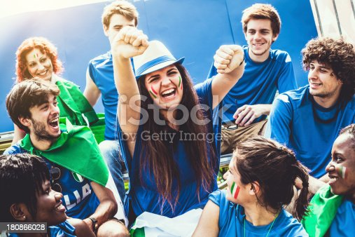 537894724 istock photo Group of Italian Footbal Team Supporters 180866028