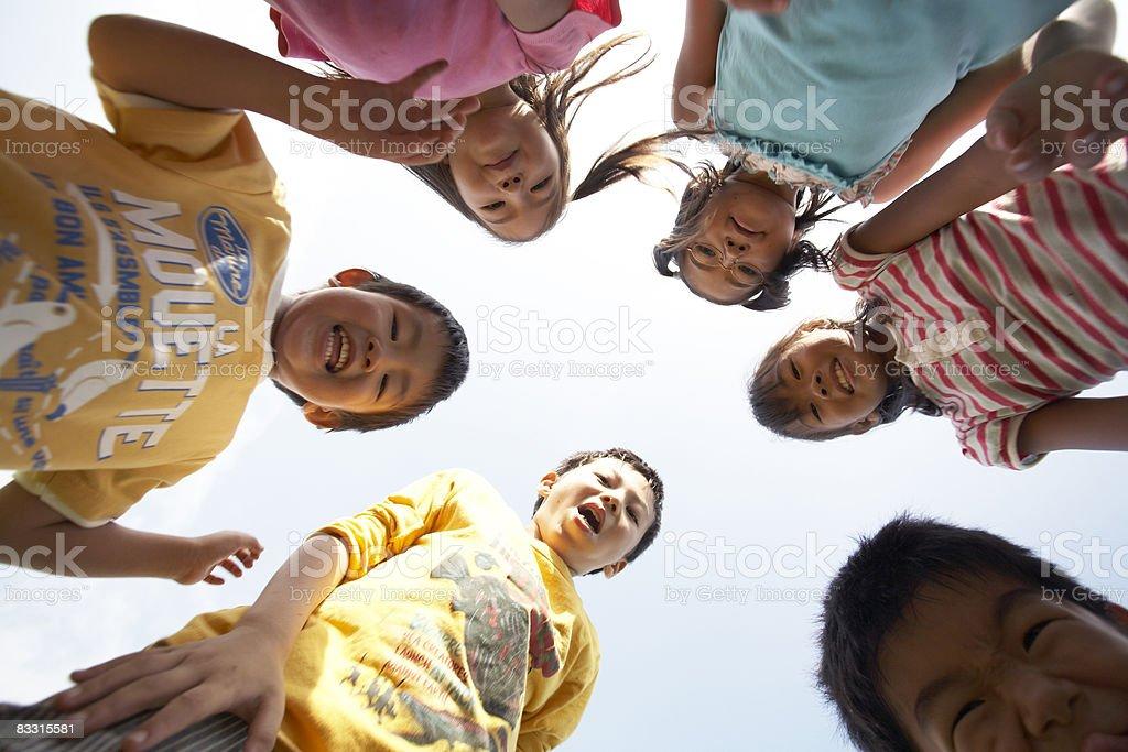 Group of Japanese children, portait royalty free stockfoto