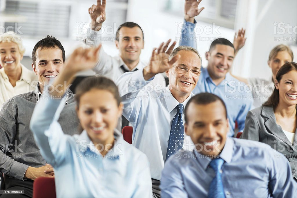 Group of journalist at the press conference. royalty-free stock photo