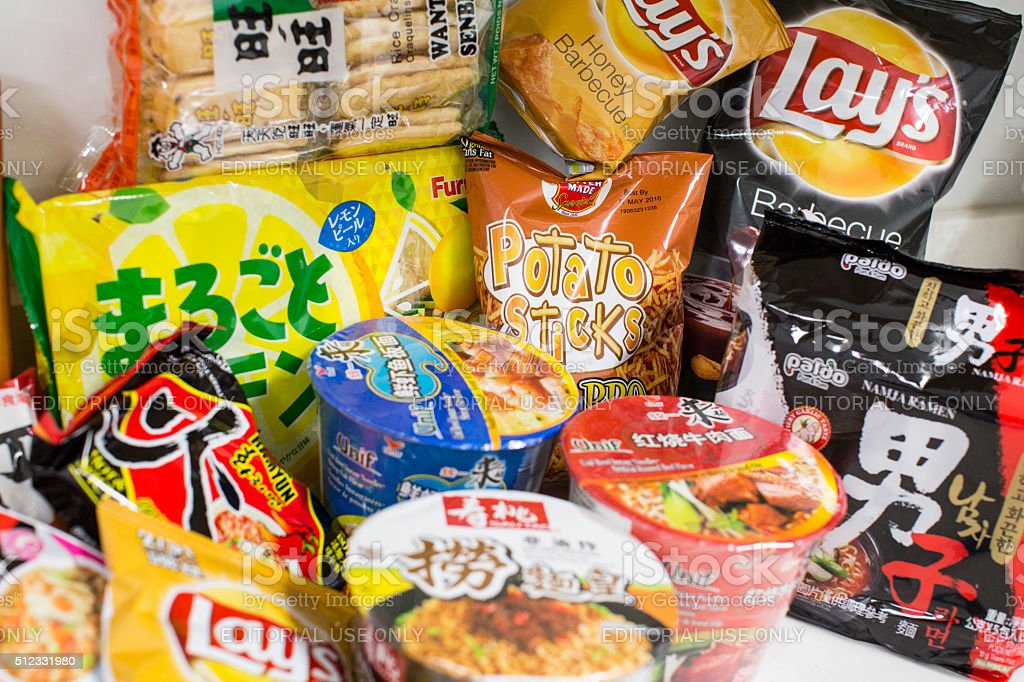Group of junk food stock photo