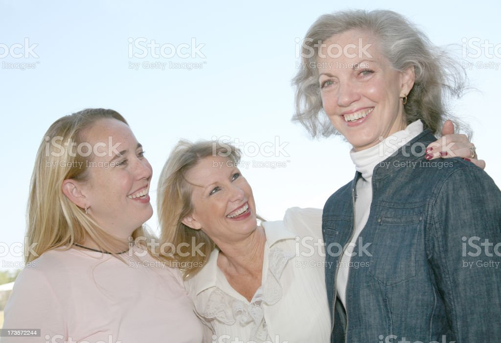 Group of Ladies Enjoying One Anothers Company stock photo