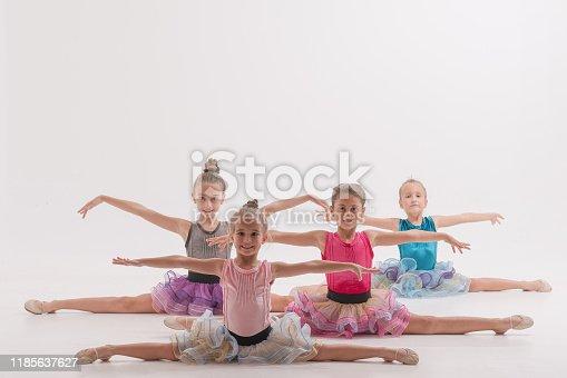 466300721 istock photo Group of Little ballerinas performer in dance studio 1185637627