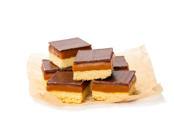 group  of luxury millionaires shortbread isolated - fotografia de stock
