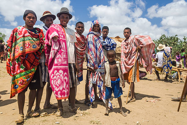 Group of Malagasy mens stock photo