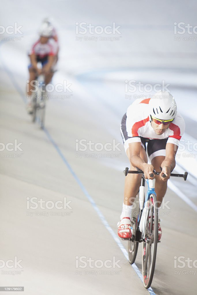 Group of male bicycle riders stock photo