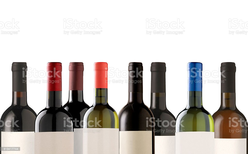 Group of many bottles stock photo