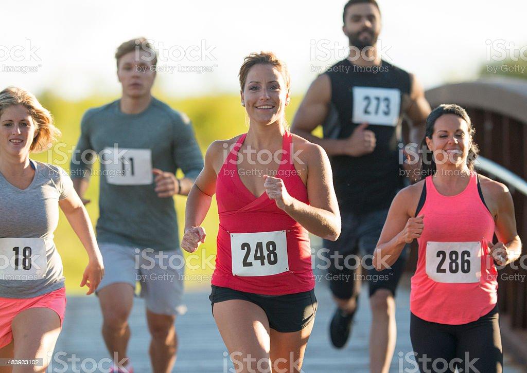 Gruppe von marathon-Läufer Lizenzfreies stock-foto