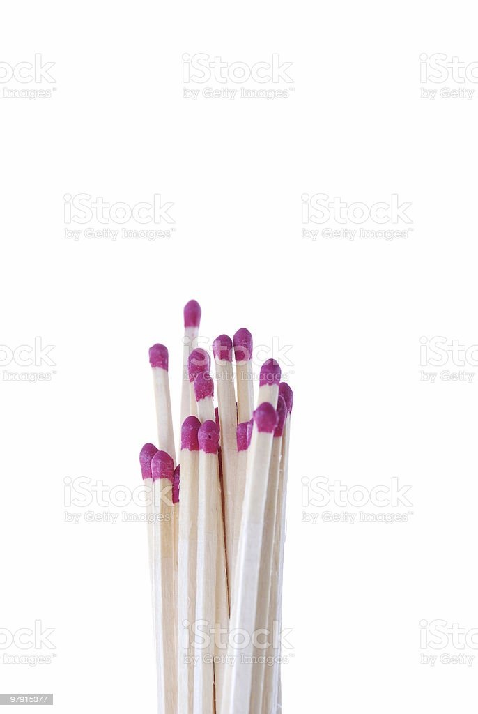 Group of matches royalty-free stock photo