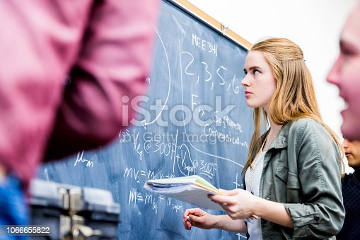 istock Group of Mathematics Students at their Class room 1066655822