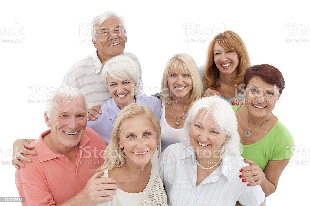 Group of mature and senior people. royalty-free stock photo