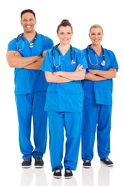 group of medical professionals portrait stock photo